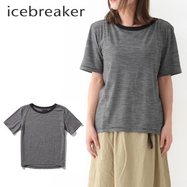 ICE BREAKER [アイスブレーカー] W LUXE LITE SS CREWE STRIPE [ITW21973] Tシャツ・半袖・ボーダー・LADY\'S_f0051306_17504501.jpg