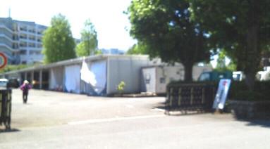 市役所駐車場にPCR検査場開設_a0390508_07080665.jpg