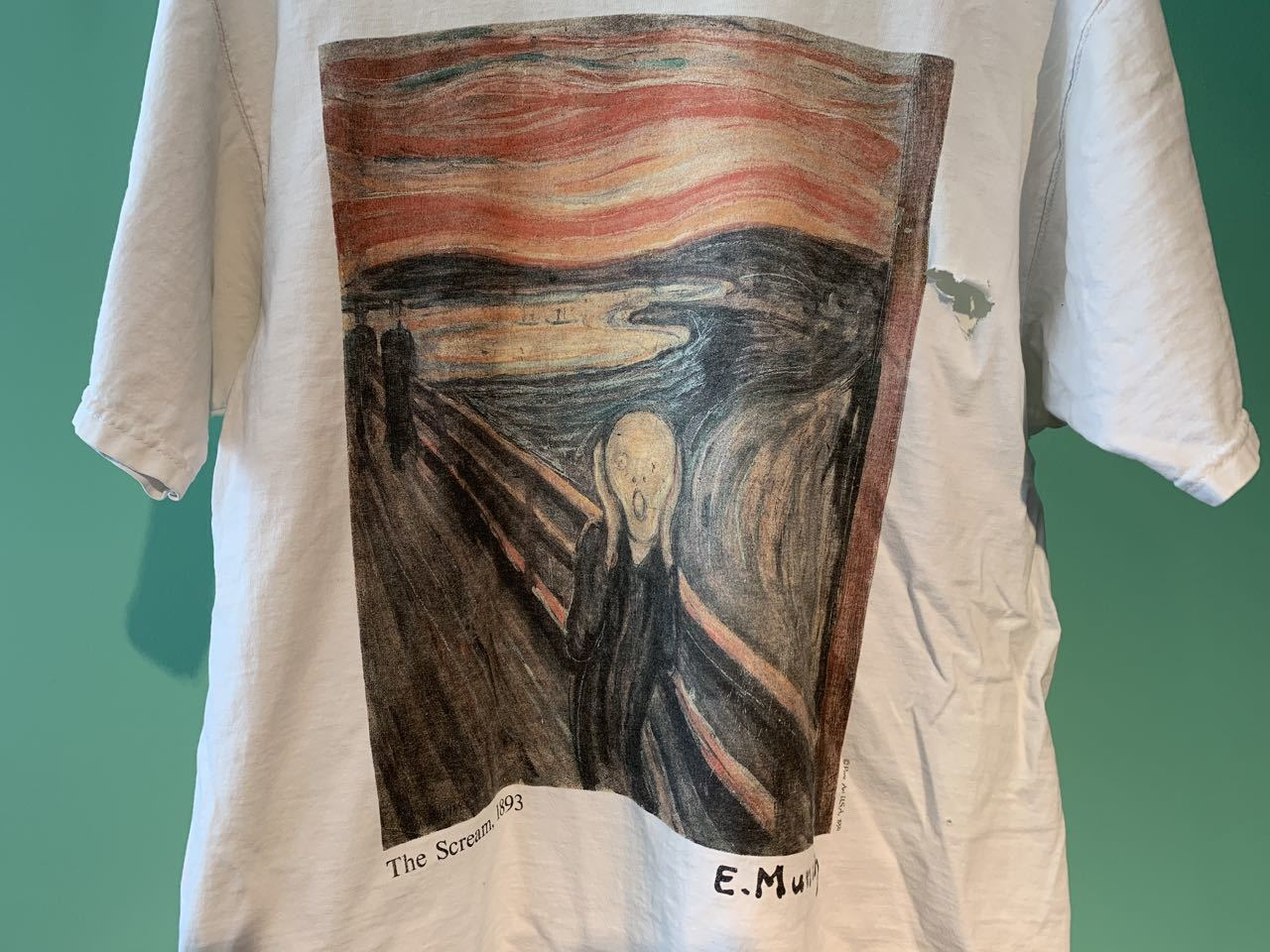90s アメリカ製 ムンク 『叫び』 Tシャツ!_c0144020_11431374.jpg