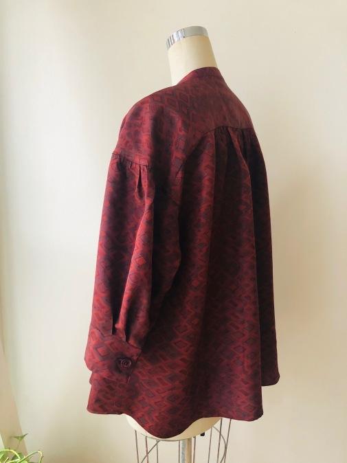 着物着物リメイク/羽織からギャザーいっぱいブラウス②_d0127925_10591947.jpg