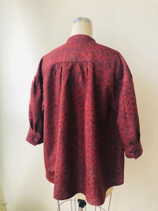 着物着物リメイク/羽織からギャザーいっぱいブラウス②_d0127925_10592562.jpg