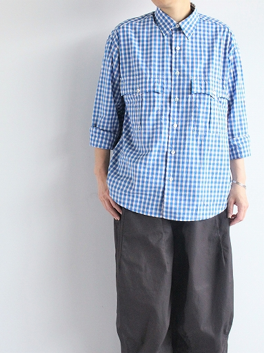 Porter Classic ROLL UP TRICOLOR GINGHAM CHECK SHIRT_b0139281_145362.jpg