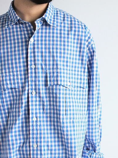 Porter Classic ROLL UP TRICOLOR GINGHAM CHECK SHIRT_b0139281_14543632.jpg