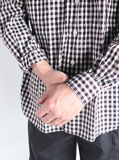 Porter Classic ROLL UP TRICOLOR GINGHAM CHECK SHIRT_b0139281_14544837.jpg