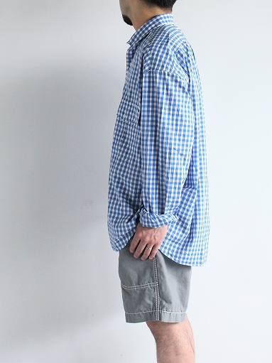 Porter Classic ROLL UP TRICOLOR GINGHAM CHECK SHIRT_b0139281_1454588.jpg