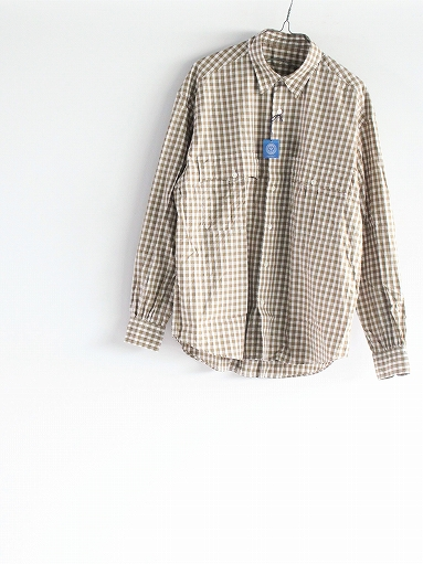 Porter Classic ROLL UP TRICOLOR GINGHAM CHECK SHIRT_b0139281_14553214.jpg