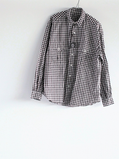 Porter Classic ROLL UP TRICOLOR GINGHAM CHECK SHIRT_b0139281_14554333.jpg