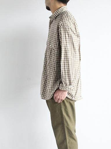 Porter Classic ROLL UP TRICOLOR GINGHAM CHECK SHIRT_b0139281_1455477.jpg