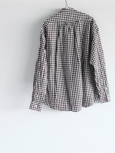 Porter Classic ROLL UP TRICOLOR GINGHAM CHECK SHIRT_b0139281_14555259.jpg
