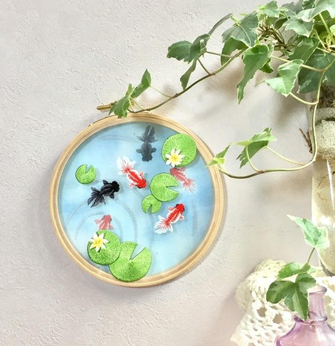 金魚池の刺繍枠飾り 発売ϵ( \'Θ\' )϶_e0385587_20575717.jpeg