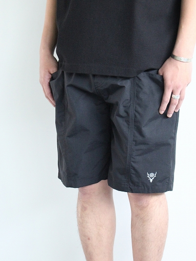 South2 West8 (S2W8) Belted Center Seam Short - Nylon Tussore / Black_b0139281_15121996.jpg