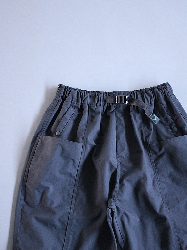South2 West8 (S2W8) Belted Center Seam Short - Nylon Tussore / Black_b0139281_15122964.jpg