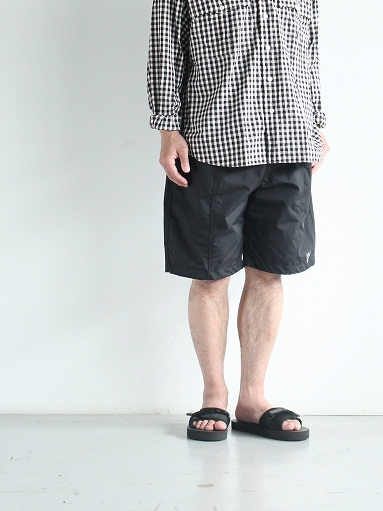 South2 West8 (S2W8) Belted Center Seam Short - Nylon Tussore / Black_b0139281_1512440.jpg