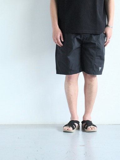 South2 West8 (S2W8) Belted Center Seam Short - Nylon Tussore / Black_b0139281_1742442.jpg