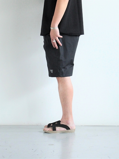 South2 West8 (S2W8) Belted Center Seam Short - Nylon Tussore / Black_b0139281_1743579.jpg