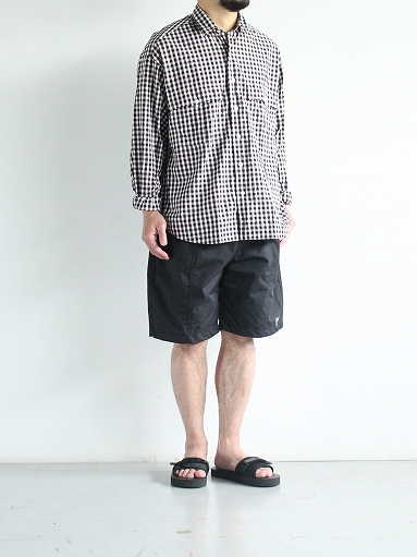 South2 West8 (S2W8) Belted Center Seam Short - Nylon Tussore / Black_b0139281_175047.jpg