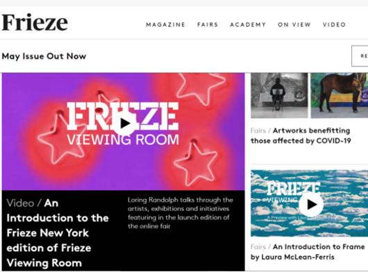 ニューヨークのアート・フェア(Frieze New York)がオンライン視聴室を史上初オープン_b0007805_05480052.jpg