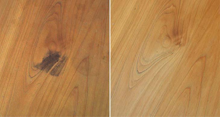 檜のテーブルをメンテナンス!_b0186205_16313100.jpg