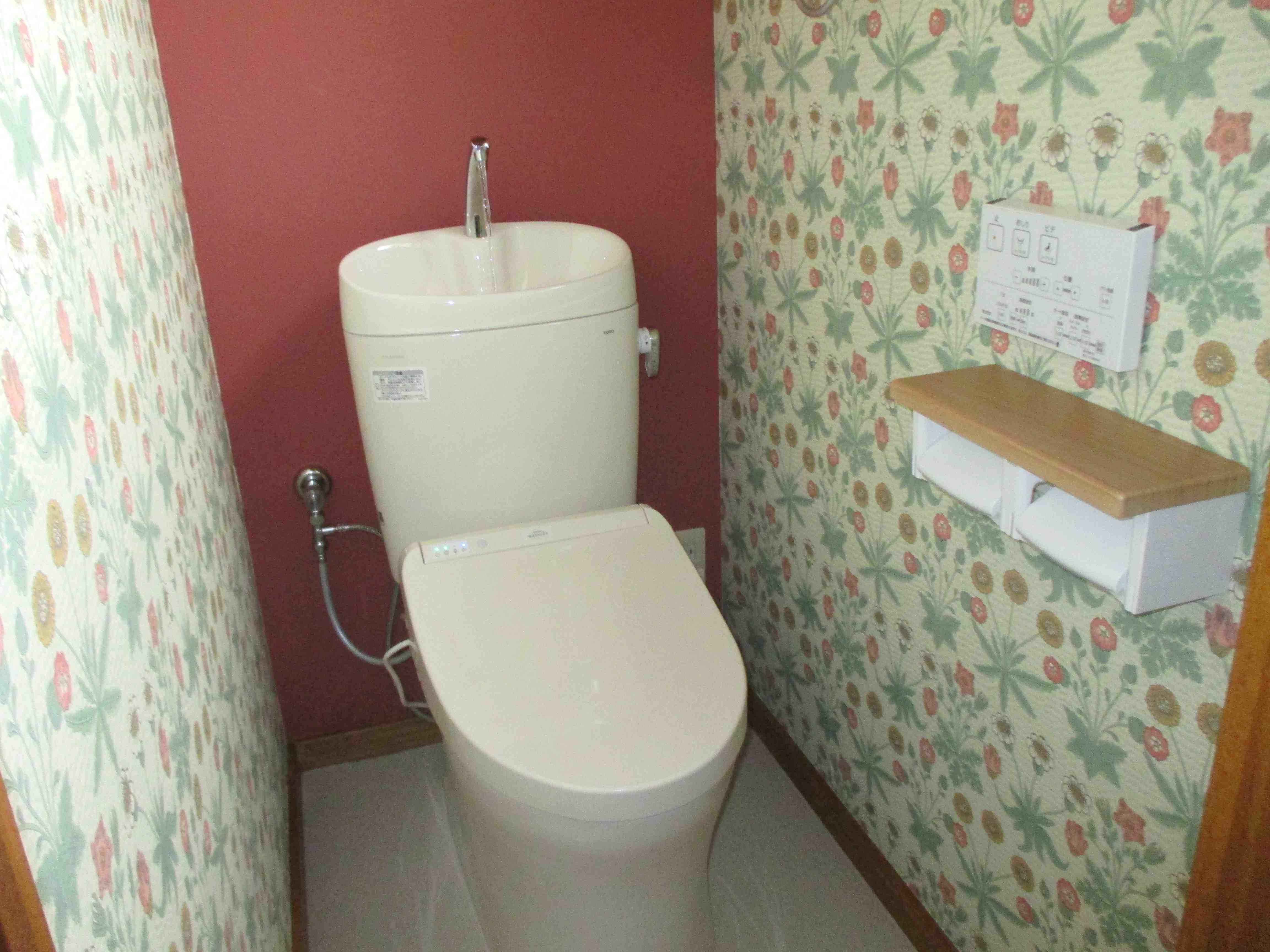 モリスの壁紙でトイレの『1DAY(ワンデイ)』リフォーム  ウィリアムモリス正規販売店のブライト_c0157866_17342169.jpg