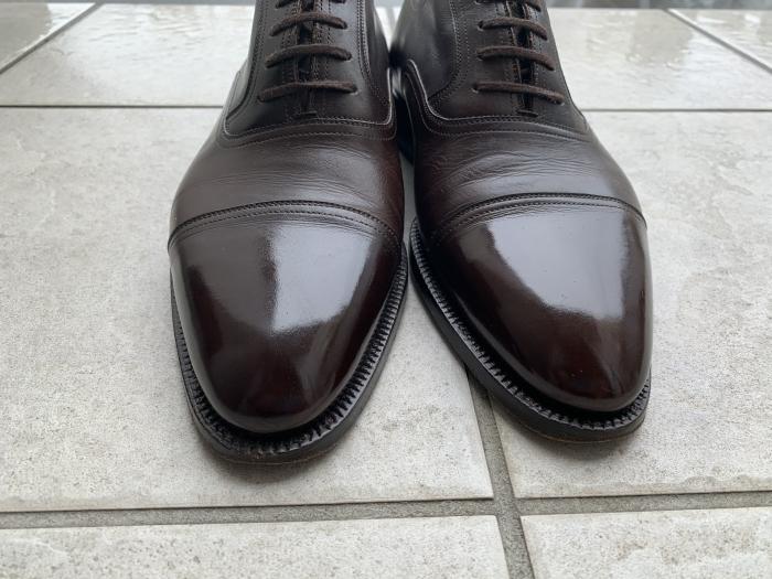 おうちで靴磨き「鏡面磨きを再び」_b0226322_16514457.jpg