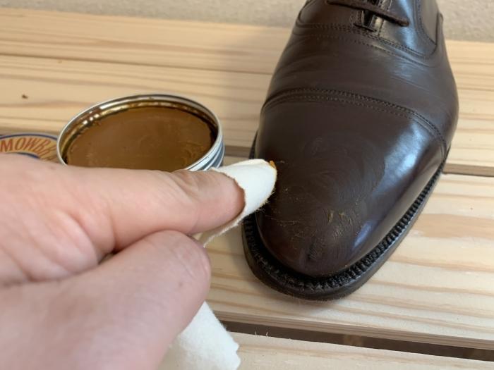 おうちで靴磨き「鏡面磨きを再び」_b0226322_17142409.jpg