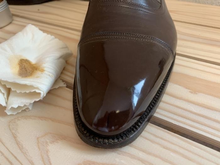 おうちで靴磨き「鏡面磨きを再び」_b0226322_17183769.jpg