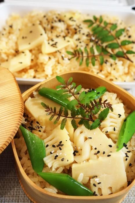 ■朝ご飯【竹の子の炊き込みご飯】創味つゆでお味シミシミ♪_b0033423_23303523.jpg