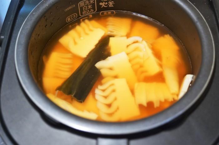 ■朝ご飯【竹の子の炊き込みご飯】創味つゆでお味シミシミ♪_b0033423_23542343.jpg