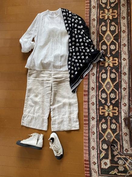 カットワーク刺繍の綿ローンブラウスと 綿ボイルショール_c0126189_23153259.jpg
