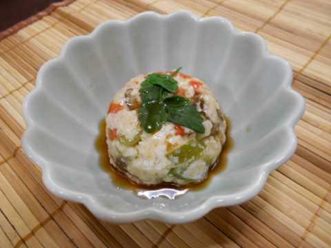 豆腐茶巾蒸しレンジで簡単_f0019498_14254483.jpg