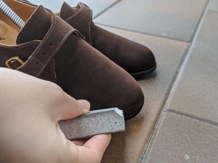 【おうちで靴磨き】使わないからこそ、今丸洗い!!2_b0226322_13011870.jpg