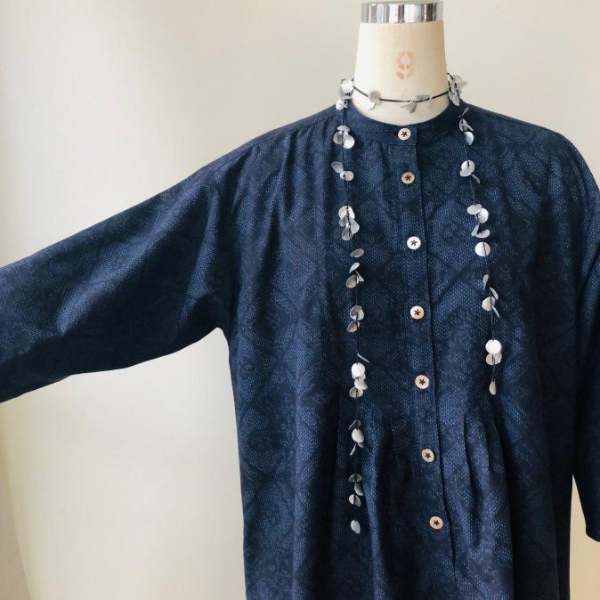 着物着物リメイク/紬のお着物からゆったりチュニック_d0127925_10234602.jpg