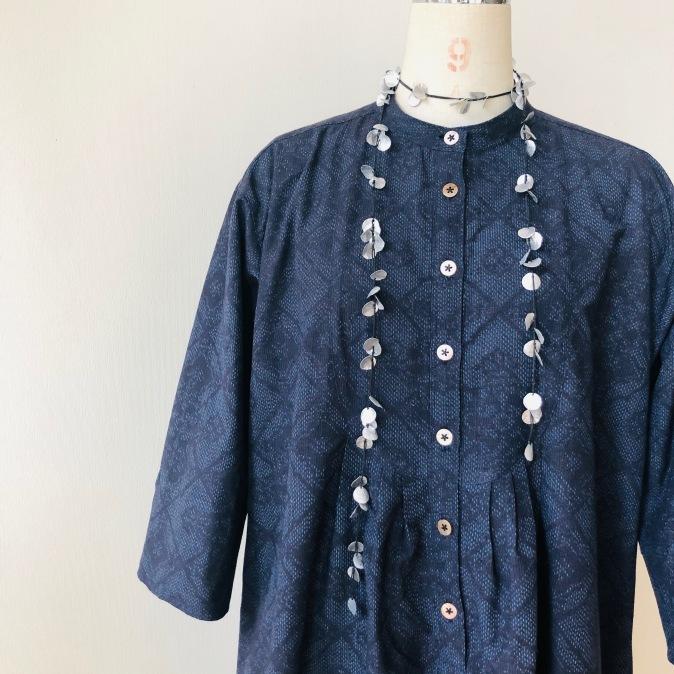 着物着物リメイク/紬のお着物からゆったりチュニック_d0127925_10235102.jpg