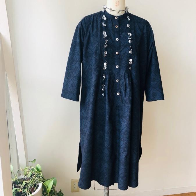 着物着物リメイク/紬のお着物からゆったりチュニック_d0127925_10235602.jpg