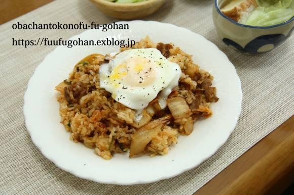 鶏もも肉のバーベキューソースグリルDEおうちバル&豚キムチ炒飯ランチ_c0326245_11543174.jpg