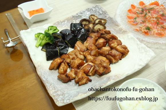 鶏もも肉のバーベキューソースグリルDEおうちバル&豚キムチ炒飯ランチ_c0326245_11550773.jpg