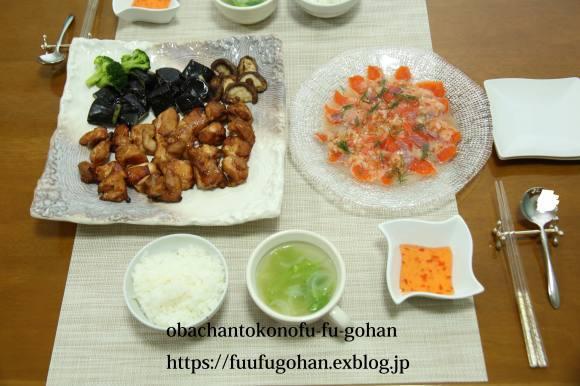 鶏もも肉のバーベキューソースグリルDEおうちバル&豚キムチ炒飯ランチ_c0326245_11555260.jpg