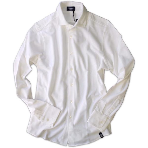 Drumohr ドルモア 鹿の子ジャージ ホワイトシャツ DTS619_c0118375_14490553.jpeg