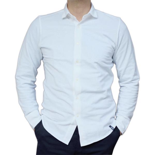 Drumohr ドルモア 鹿の子ジャージ ホワイトシャツ DTS619_c0118375_15214209.jpeg