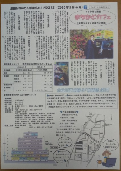 雨の1日☔️たんぽぽだよりは212号、コロナ特集と病院情報、まちかどカフェ😊_f0061067_23311801.jpg