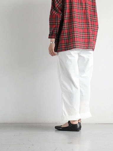 BRENA COQ PANTS - COTTON & LINEN WASHER KERSEY_b0139281_12190787.jpg