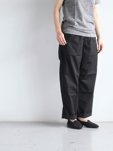 BRENA COQ PANTS - COTTON & LINEN WASHER KERSEY_b0139281_12190835.jpg