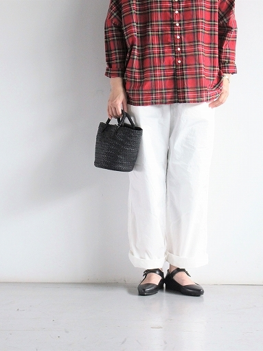 BRENA COQ PANTS - COTTON & LINEN WASHER KERSEY_b0139281_12191639.jpg