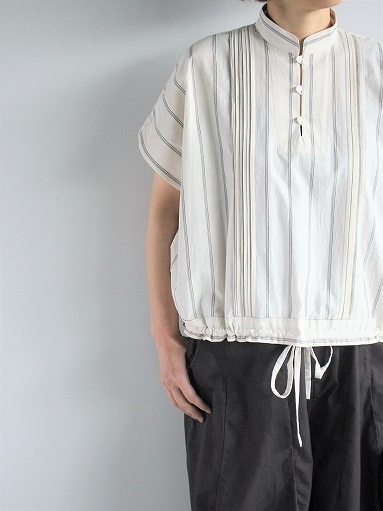 ASEEDONCLOUD working blouse / plants on cloud stripe - off white_b0139281_12420941.jpg