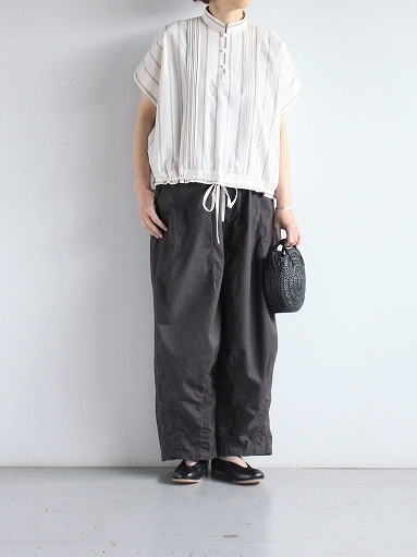 ASEEDONCLOUD working blouse / plants on cloud stripe - off white_b0139281_12420958.jpg