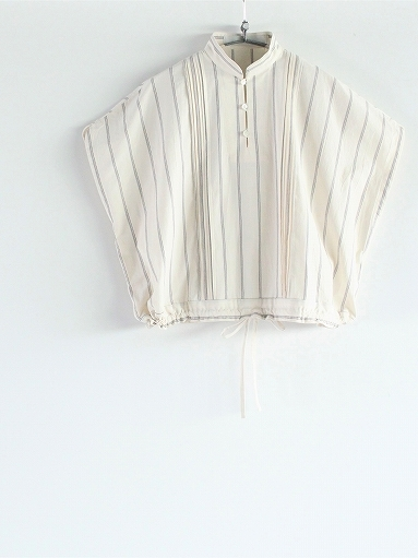 ASEEDONCLOUD working blouse / plants on cloud stripe - off white_b0139281_12420980.jpg