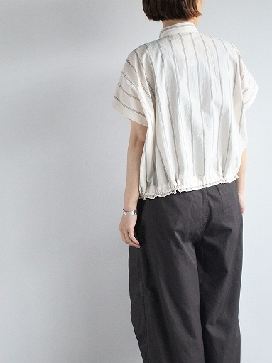 ASEEDONCLOUD working blouse / plants on cloud stripe - off white_b0139281_12421061.jpg