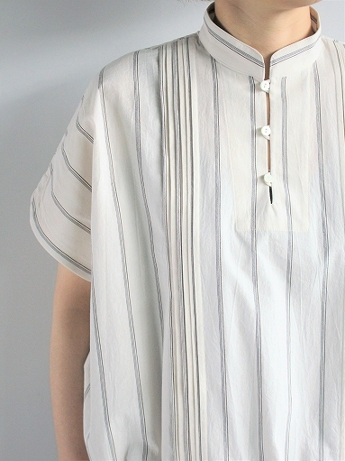 ASEEDONCLOUD working blouse / plants on cloud stripe - off white_b0139281_12421091.jpg