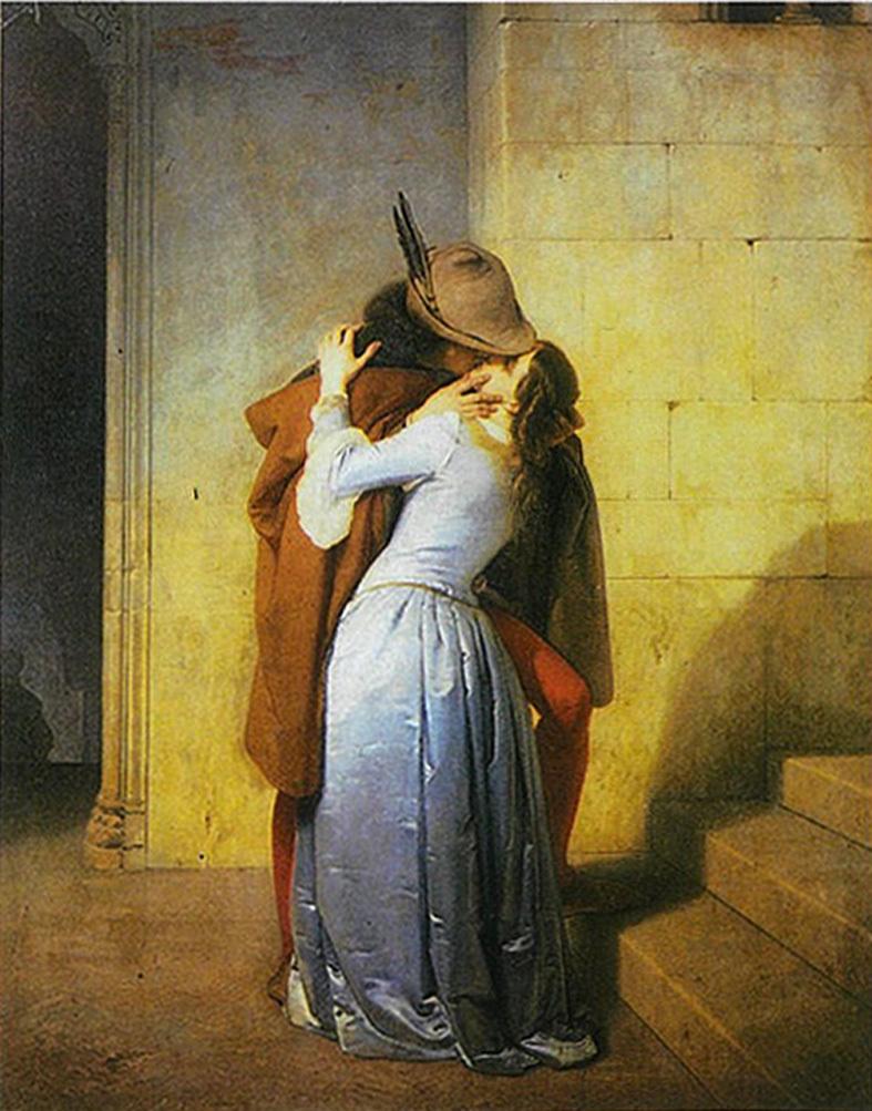 ■「日用品ではないキス」の画家フランチェスコ・アイエツ、それに週替わりの夕暮れ[5/17]_d0190217_10182101.jpg