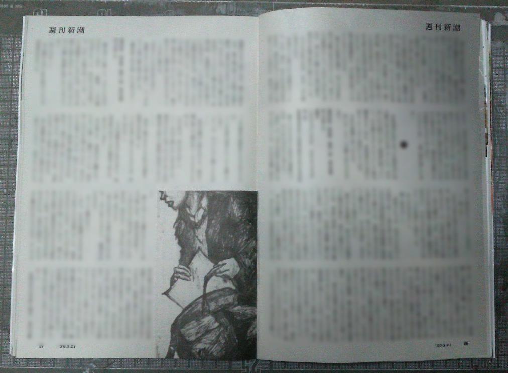 週刊新潮「雷神」挿絵 第19回_b0136144_05025898.jpg